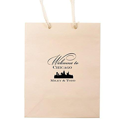 Amazon Custom Wedding Hotel Bags Chicago Personalized Gift Bag