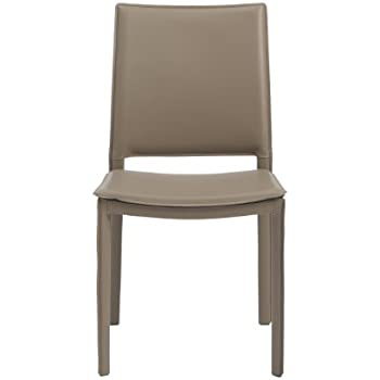 Euro Style Kate Leatherette Dining Kitchen Side Chair Set Of 4 Elegant Taupe