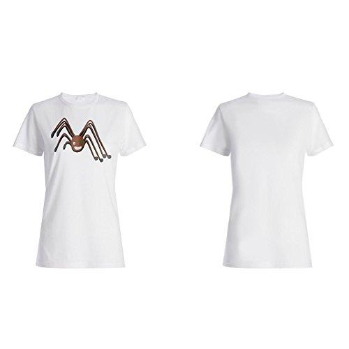 Neuer Lustiger Schädelpirat Damen T-shirt i927f