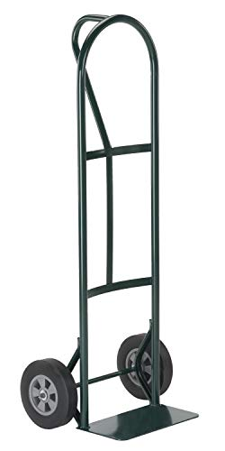 Harper Trucks BKB85 600 lb P-Handle with Solid Rubber Wheels Hand Truck, Green (Hand Solid Truck Tires)