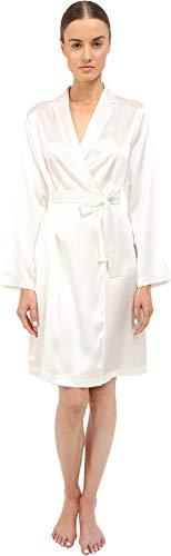 La Perla Women's Silk Short Robe, Natural, SM from La Perla