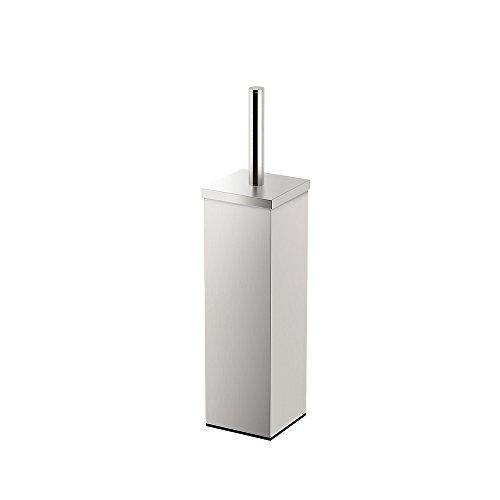 Gatco 1489 Elegant Square Toilet Brush Holder Satin Nickel