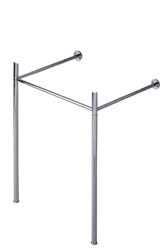 Duravit 0030591000 Metal Console Legs for Scola Wall Mount Lavatory, Chrome (Washstand Console Sink)