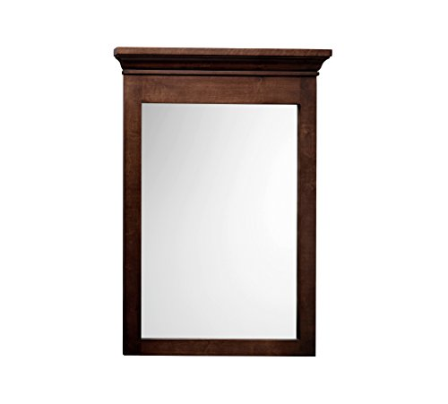 h W x 33 Inch H Bathroom Transitional Solid Wood Framed Bathroom Mirror in Café Walnut Finish 603324-F13 (Solid Wood Mirror)