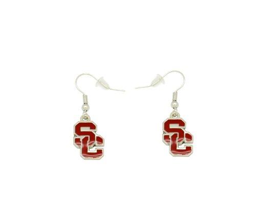 Usc Ring - aminco NCAA Dangler Earrings, USC Trojans