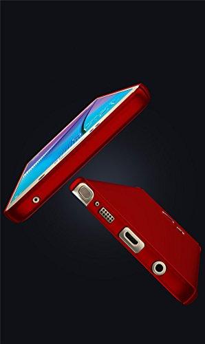 Coque Galaxy Note 5 Case Ultra Slim Légère Housse Adamark Anti-Scratch Thin Protection Bumper Récurer PC Rigide Étui Cover Pour Samsung Galaxy Note 5 Rouge