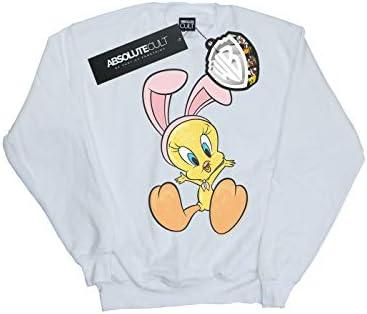 Absolute Cult Looney Tunes Herren Tweety Pie Bunny Ears Sweatshirt Weiß Small