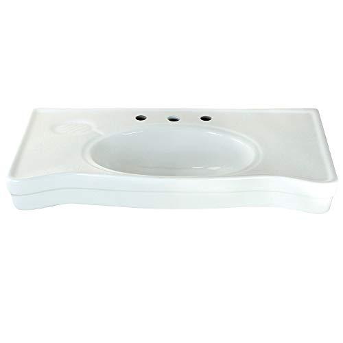 Kingston Brass VPB1368B Imperial Ceramic Sink Basin White