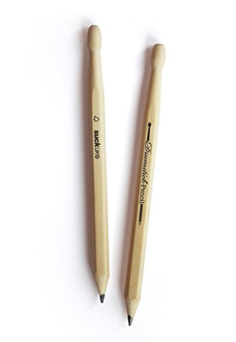 SUCK UK - PENCILS | NOVELTY WOOD DRUM STICKS | DESK TOYS  | OFFICE & SCHOOL SUPPLIES | DRUMMER GIFTS |