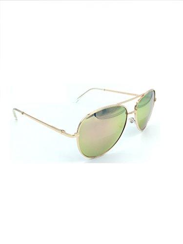 Bifocal Reading Sunglasses for Men or Women 100% UVA & UVB Mirrored Lens (Pink, 2.00) ()