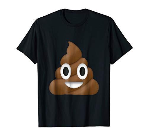 Mens Emoji Poop Novelty Funny Standard T Shirt Large Black