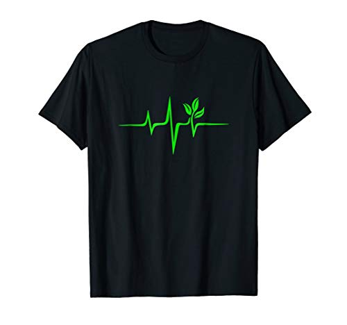 (Pulse Green Heartbeat Vegan Plant Tree Environment T-shirt)