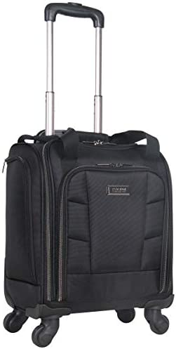 Kenneth Cole Reaction 18″ Lightweight Multi-Pocket Anti-Theft RFID 14.1″ Laptop & Tablet Underseater Carry-On With USB Charging Port, Black, One Size