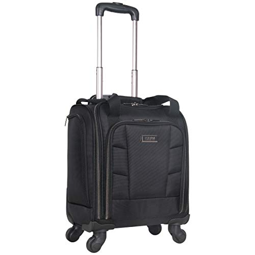 Kenneth Cole Reaction 18' Lightweight Multi-Pocket Anti-Theft RFID 14.1' Laptop & Tablet Underseater Carry-On with USB Charging Port, Black
