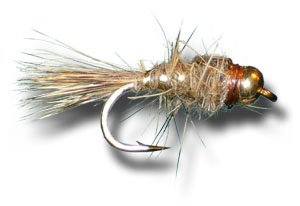 BH Gold Ribbed Hare's Ear Nymph Fly Fishing Fly - Size 18 - 3 Pack