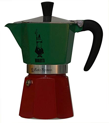 Bialetti : 6-Cup Stovetop Espresso Maker Green/Red
