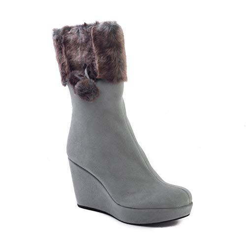 Stuart Weitzman Women's 'Snowbunny' Suede Faux Fur Boots Grey from Stuart Weitzman