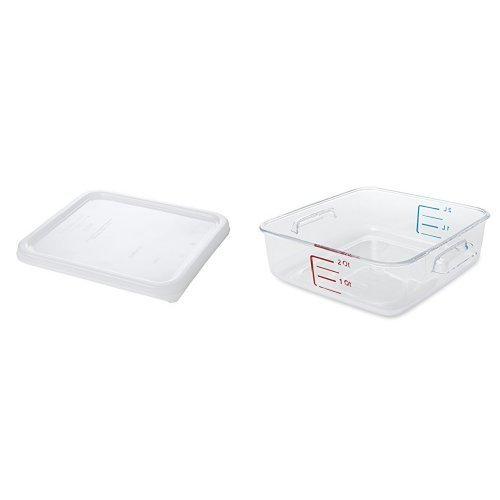 Rubbermaid Commercial Space Saving Food Storage Container with Lid