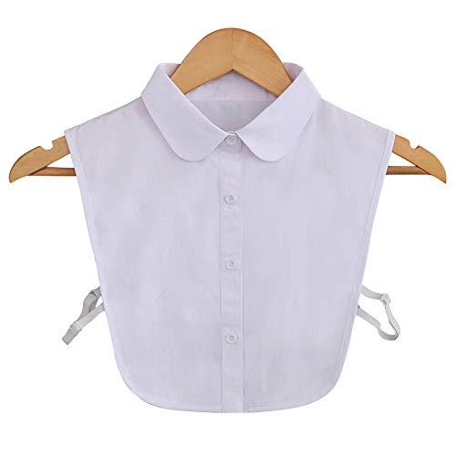 Joyci Fashion Pure White False Shirt Collar Detachable(Pure White)
