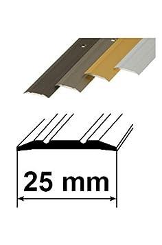 Ausgleichprofil 10x40mm, silber Aluminium Schutzleiste L/änge 90cm verschiedene Ausf/ührungen T/ürschwelle /Übergangsprofil /Übergangsschiene mit Befestigungsmaterial