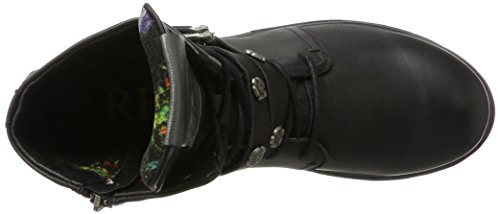 Delle Biker nero Ripetere Boots Di Colore 3 Donne Discret wtdOdq6