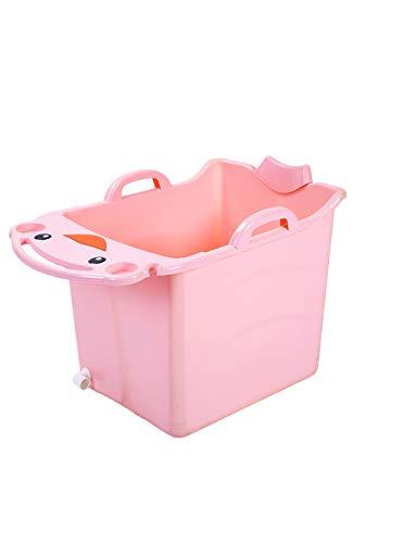 ESPERANZAXU Cubo De La Ducha Los Niños Doblan La Luz De Ahorro De Agua Y La Bañera De Plástico Resistente A Las Caídas,...