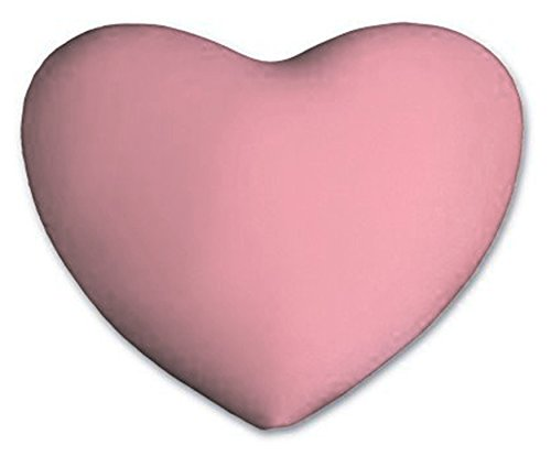 Heart - Shaped Pillow - Light Pink Valentine Pillow - Micro Bead Squishy - Accent Kidney Pillow