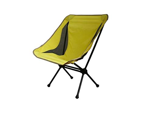 Pullic Portable Folding Fishing Chair Recliner Camping Chair for Outdoor and Fishing(Yellow) by Pullic