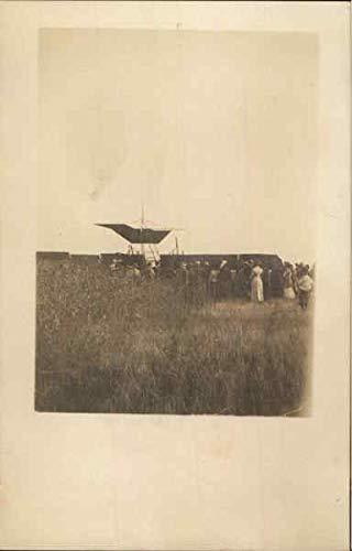 - People around Early Airplane, Crash Aircraft Original Vintage Postcard