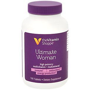Ultimate Woman Multivitamin, High Potency Multi with Green Tea Extract Energy Antioxidant Blend, Daily MultiMineral Supplement for Optimal Women s Health 180 Tablets by The Vitamin Shoppe
