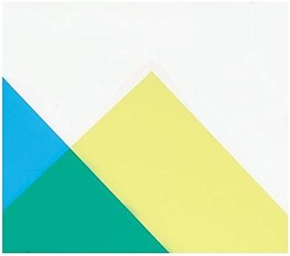 カラー塩ビ板 透明 330×360×0.4mm 単色 黄