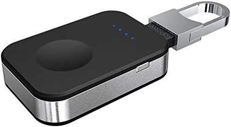 Cargador de reloj inalámbrico para Apple Watch, portátil, tamaño mini de bolsillo, batería portátil inalámbrica con gancho de llavero para iWatch, ...