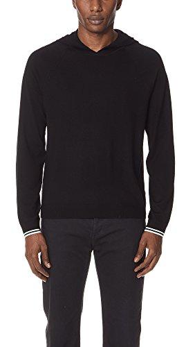 Vince Men's Pullover Hoodie Sweater, Black, Medium by Vince (Image #1)