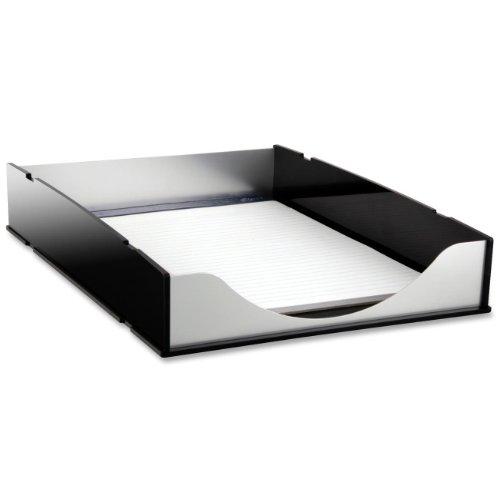 Kantek Letter Tray, 13.25 x 10.25 x 2.25 Inches, Black Acrylic and Aluminum (BA310)