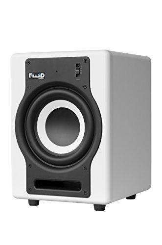 Fluid Audio F8SW - 8'' Active Subwoofer, White by Fluid Audio