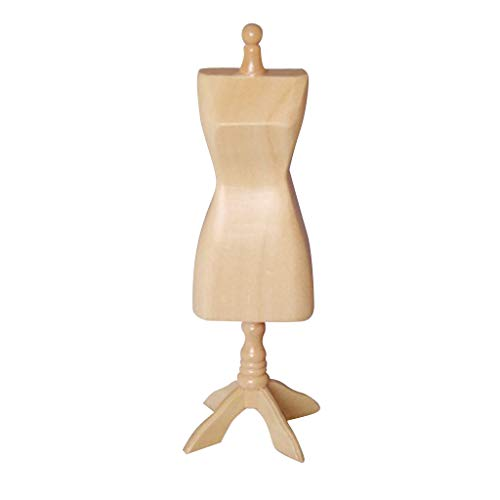 Prettyia Female Doll Mannequin Dress Model Form Stand Clothing Dispaly Holder for 1/12 Dollhouse