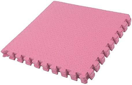 5 Pieces Pink EVA Foam Interlocking Mat for Exercise 60x60x2.5CM