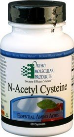 Ortho Molecular Product N-Acetyl Cysteine -- 60 Capsules (The Best L Carnitine Product)