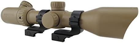 Monstrum Tactical 3-12×42 AO Rifle Scope with Illuminated Mil-Dot Reticle and Offset Reversible Scope Rings