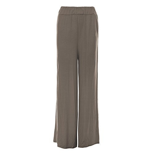Oops Outlet -pantalons femmes Baggy Palazzo leggings taille grande - taille grande 48/50, mocca - Celebrity Celeb Inspired Stretchy