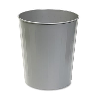 Fire-Safe Wastebasket, Round, Steel, 23.5qt, Charcoal, Sold as 1 Each ()