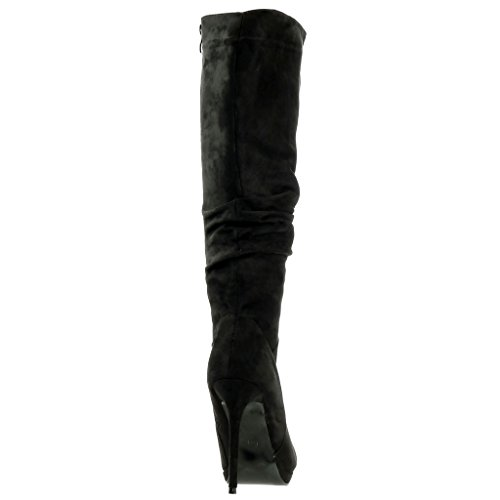 Sexy Stiletto Nero Scarpa All'interno A 5 Tacco 11 Donna Flessibile Moda Leopardo Cm Angkorly Spillo HqfnX1wdOf
