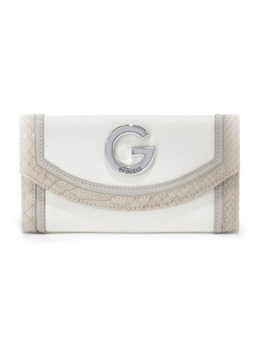 G by GUESS Women's Calliah Slim Wallet, WHITE