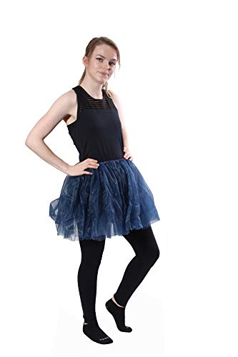 Classic Layered Princess Tutu for Holiday Costumes, Fun Runs,and Everyday Wear Over Leggings Navy Blue ()