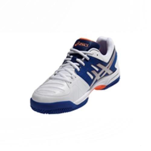 ASICS Gel Dedicate 4 Clay - Zapatillas de tenis para hombre Azul / Plateado / Naranja