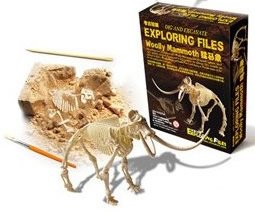 Feeling of fossil excavation that would immerse yourself unintentionally dinosaur fossil excavation [series] Mammoth skeleton specimen excavation kit (japan import)
