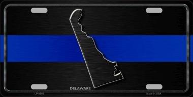 Delaware Thin Blue Line Novelty Metal License Plate LP-8890