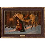 The Prayer At Valley Forge - Arnold Friberg - Framed Textured Lithograph