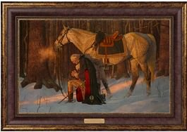 The Prayer At Valley Forge - Arnold Friberg - Framed Textured Lithograph by Friberg Fine Art