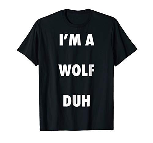 Easy Halloween Wolf Costume Shirt for Men Women -